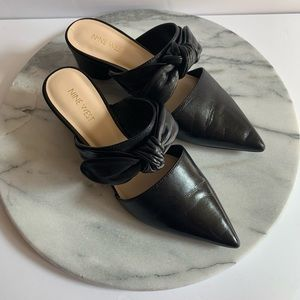 """Nine West """"zeal"""" pointy toe leather mules"""